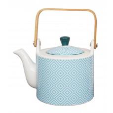 Geo Eclectic Teapot 0,8lt L Blue