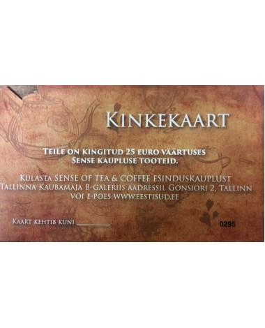 Kinkekaart 25 Eurot