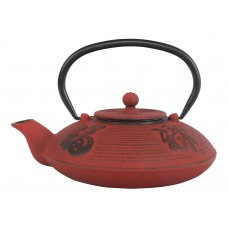 Cast Iron teapot 0,8 l Japanese Red