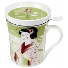 GEISHA 300 ml with lid and stainless steel strainer